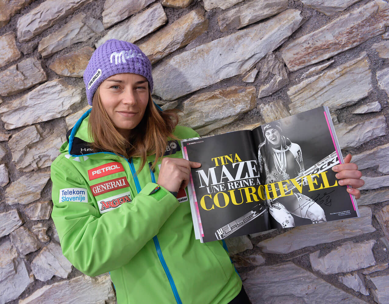 Tina Maze Magazine Courchevel